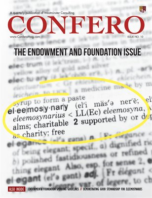 Confero Spring 2015: The Endowment and Foundation Issue