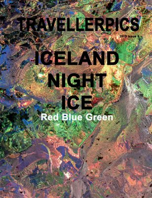 Iceland Night Ice Red Green Blue