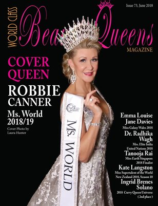 World Class Beauty Queens Magazine issue 73 with Robbie Canner