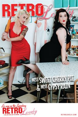 Miss Sweet Cherry Pie & Miss Gypsy Rain Cover Poster