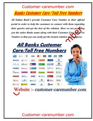 All Indian Banks Customer Care/Toll Free Numbers