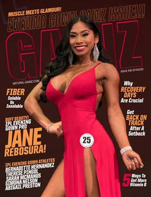Natural Gainz Magazine Issue #36 - 2019/2020 - Cover: Jane Rebosura