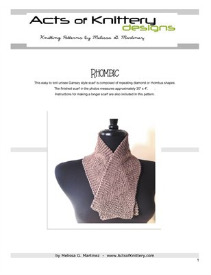 Rhombic Scarf Knitting Pattern