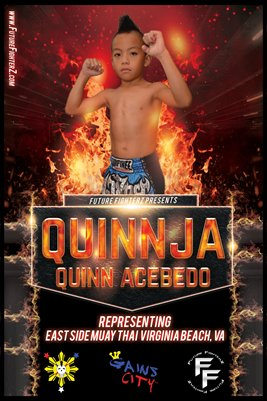 Quinn Acebedo On Fire - Poster
