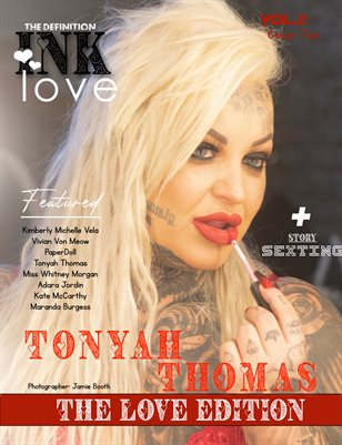 TDM INK: Tonyah Thomas Valentine Issue 2 Cover 2 2021