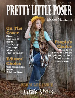 Pretty Little Poser Model Magazine - Issue 24 - Little Stars - February 2021