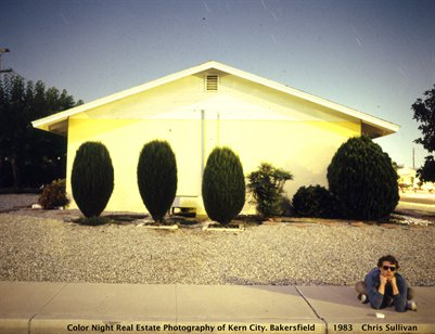 Colour Night Real Estate Photography of Kern City, Bakersfield, 1983