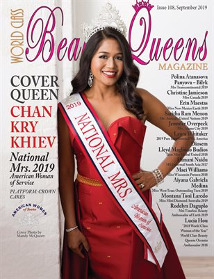 World Class Beauty Queens Magazine Issue 108 with Chan Kry Khiev