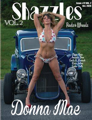 Shazzles Rodz & Wheelz Issue #72 VOL 2 Cover Model Donna Mae