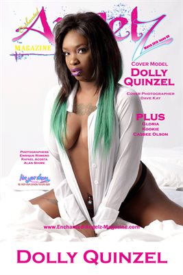 ENCHANTED ANGELZ MAGAZINE COVER POSTER - Cover Model Dolly Quinzel - March 2019