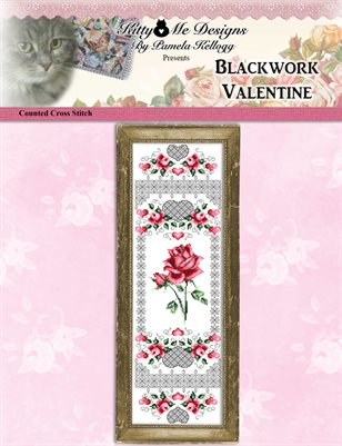 Blackwork Valentine Cross Stitch Pattern