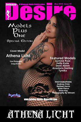 INTENSE DESIRE MAGAZINE COVER POSTER - MODELS PLUS ONE - SPECIAL EDITION - MAY 2019