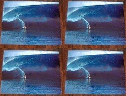 Autographed Laird Hamilton Teahupoo 2000 Wave Poster