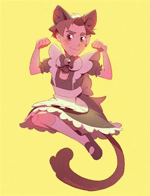 Kitty Maid - Mini Print