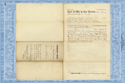 1862 Deed, Inman to Cothran, Miami County, Ohio