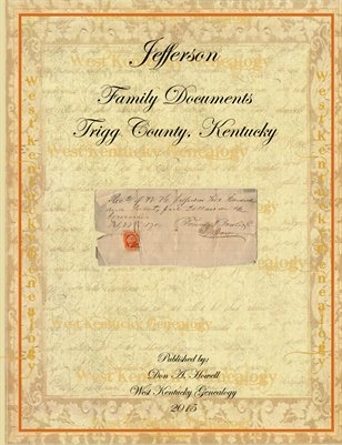 Jefferson Family Documents, Trigg County, Kentucky