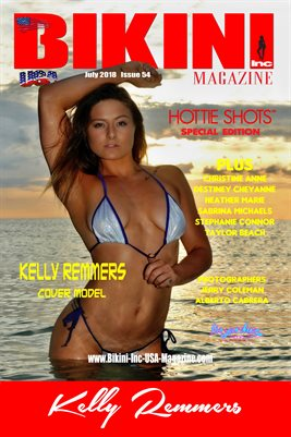 BIKINI INC USA MAGAZINE COVER POSTER - Cover Model Kelly Remmers - Hottie Shots SE - July 2018
