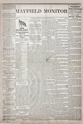 (Pages 1-2) Mayfield Monitor, FEB. 08,1879