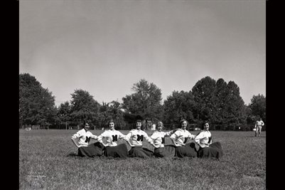 Sept. 5th, 1952 Mayfield High School Cheerleaders