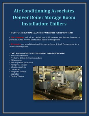 Air Conditioning Associates Denver Boiler Storage Room Installation: Chillers
