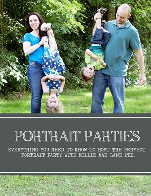 Portrait Parties by Millie Mae Lane