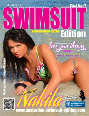 AUSTRALIAN SWIMSUIT EDITION MAGAZINE - Cover Girl Nakita Negrette - November 2016