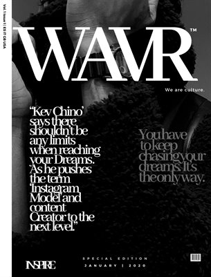 Kev Chino' WAVR Mag Special Edition January Cover Issue (Printed Poster)