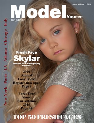 Model Source magazine Issue 8 Volume 11 2019 TOP 50 FRESH FACES