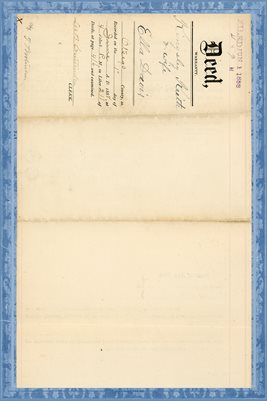 (PAGES 1 & 2) 1888 DEED KINGSLEY KEITH TO ELLA DAVIS, OTSEGO, NEW YORK