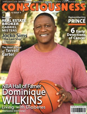 Dominique Wilkins featured on Cover Consciousness Magazine