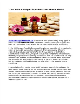 Essential Oils And Their Properties