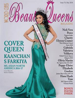 World Class Beauty Queens Magazine Issue 70 with Kaanchan S Farkiya