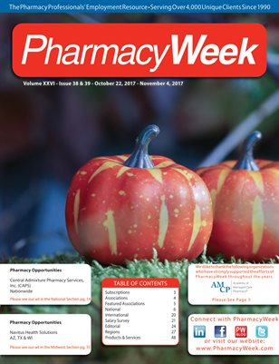 Pharmacy Week, Volume XXVI - Issue 38 & 39 - October 22, 2017 - November 4, 2017