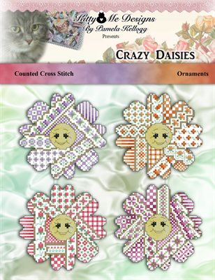 Crazy Daisies Cross Stitch Ornament Pattern