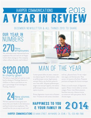 year end review template - templates holiday business newsletter template