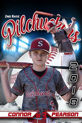 2018 Pilchuckers #3 Connor BLUE Poster