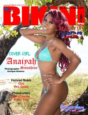 BIKINI INC USA MAGAZINE - Cover Girl Anaiyah Sunshine - March 2017