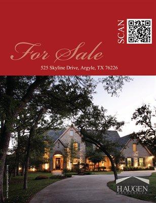 Haugen Properties - 525 Skyline Drive, Argyle Texas 76226