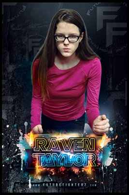 Raven Taylor Fire Shine Poster
