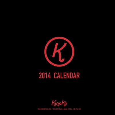 Kinoko cycles custom calender 2014