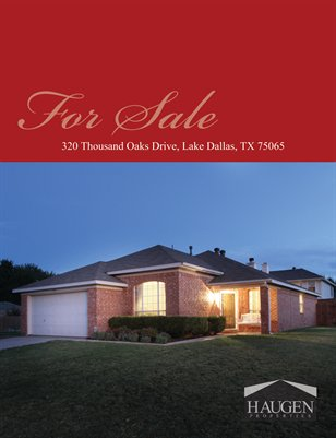 Haugen Properties - 320 Thousand Oaks Drive, Lake Dallas, 75065
