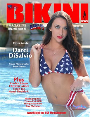 BIKINI INC USA MAGAZINE - Cover Model Darci DiSalvio - July 2020