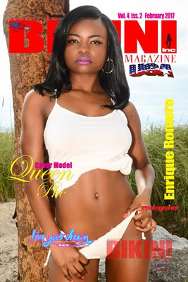 BIKINI INC USA MAGAZINE POSTER - Cover Model Queen Phe - Feb 2017