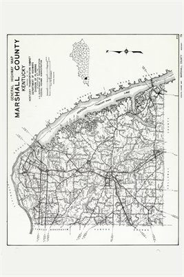 Marshall County, Kentucky Map
