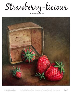 Strawberry-licious Painting Tutorial by Sharon Chinn SC16016