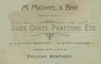 M. MICHAEL & BRO., BUGGIES, CARTS, PHAETONS, ETC.