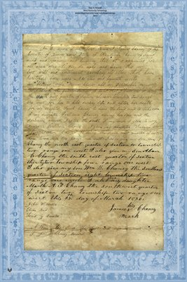 1836 Will of James Chaney, Graves County, Kentucky