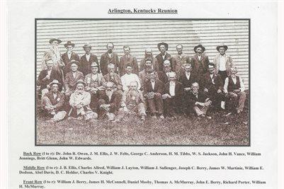 CONFEDERATE SOLDIER REUNION, ARLINGTON, KENTUCKY