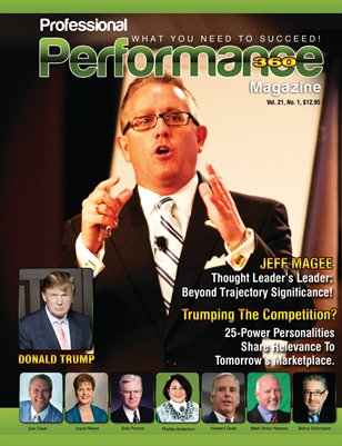 Jeffrey Magee/Donald Trump Edition - Performance/P360 Magazine - V. 21, I. 1