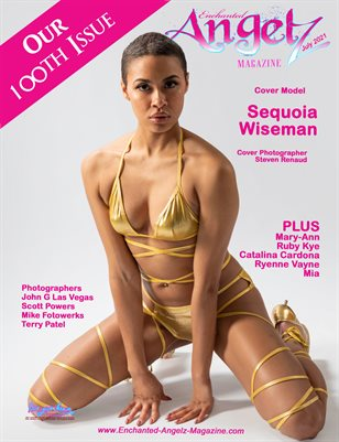 ENCHANTED ANGELZ MAGAZINE - 100th Issue - Cover Model Sequoia Wiseman